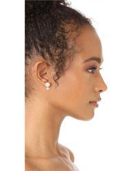 Kate Spade - Multicolor Bright Ideas Double Imitation Pearl Stud Earrings - Lyst