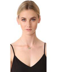 Shashi - Metallic Rectangle Necklace - Lyst