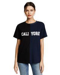 Cynthia Rowley Blue Cali York T-shirt