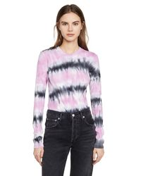 PROENZA SCHOULER WHITE LABEL Multicolor Long Sleeve Tee