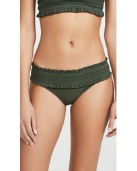 Tory Burch Green Costa Bandeau Bikini Bottoms