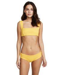 Fella - Yellow Franco Bikini Top - Lyst