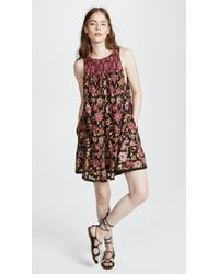 f2822c3040e0 Free People Oh Baby Floral Minidress in Black - Lyst