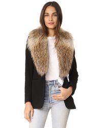 Sam. Black Ludlow Snap Closure Coat