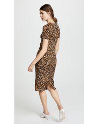 Diane von Furstenberg Natural Crew Neck Dress