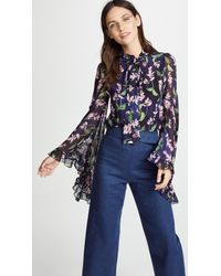 Isolda Blue Lily Top
