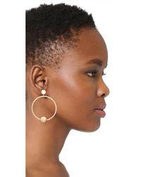 Shashi - Metallic Tiffany Hoop Earrings - Lyst