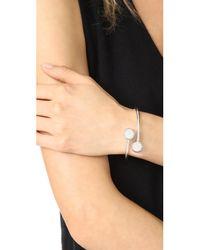Kate Spade - Metallic Bauble Cuff Bracelet - Lyst