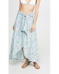 Tiare Hawaii Blue Azure Wrap Skirt