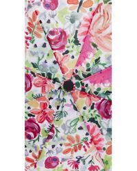 Kate Spade - Pink Dahlia Travel Umbrella - Lyst