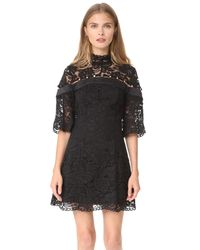 Keepsake - Black Star Crossed Lace Mini Dress - Lyst
