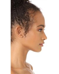EF Collection - Metallic 14k Gold Diamond Stud Earrings - Lyst