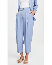 Vince Blue Tapered Culottes