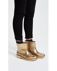 Melissa - Metallic Drop Rain Boots - Lyst
