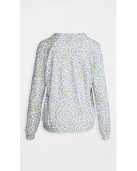 Pj Salvage White Smiley Leopard Pullover