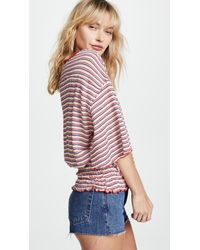 Free People - Red Ebony Tee - Lyst