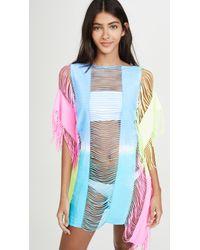 Pilyq Blue Neon Tie Dye Cover Up Dress