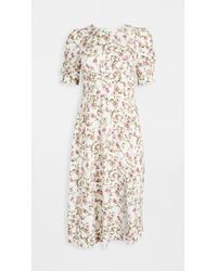 Re:named White Re: Named Allete Floral Midi Dress