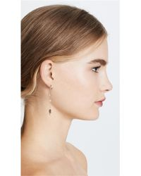 Rebecca Minkoff - Metallic Linear Imitation Pearl & Stone Earrings - Lyst