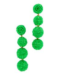 Deepa Gurnani - Green Deepa By Jane Earrings - Lyst