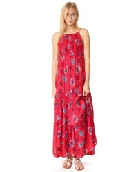Free People | Red Garden Party Maxi Dress | Lyst