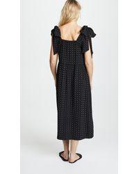 HATCH Black Kate Bowtie Dress