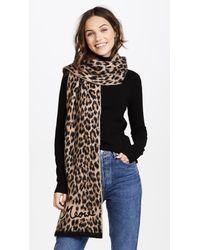 Kate Spade Multicolor Brushed Leopard Muffler Scarf