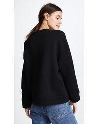 Michaela Buerger Black Love Oversize Sweatshirt