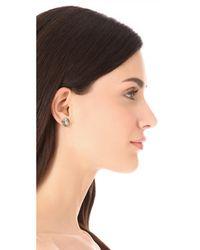 Kate Spade Metallic Small Square Stud Earrings