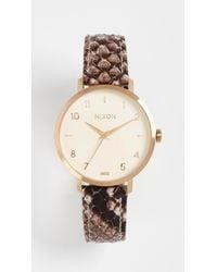 Nixon | Metallic Arrow Leather Watch, 34mm | Lyst