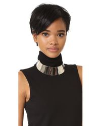 Adia Kibur - Metallic Blaire Collar Necklace - Lyst