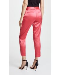 Alice + Olivia Red Stacey Slim Trousers