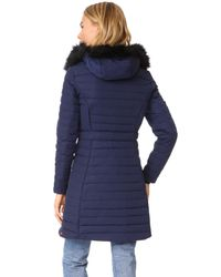 Hunter - Blue Original Fitted Down Coat - Lyst
