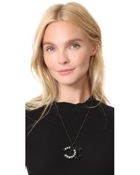What Goes Around Comes Around Multicolor Chanel Crystal Cc Necklace (previously Owned)