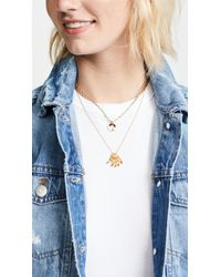 Madewell - Metallic Delicate Petal Drop Necklace - Lyst