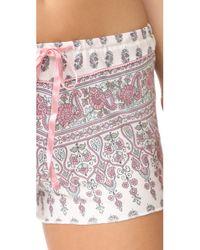 Pj Salvage - Natural Floral Paisley Pj Shorts - Lyst