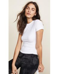 ATM - White Pima Cotton Baby Tee - Lyst