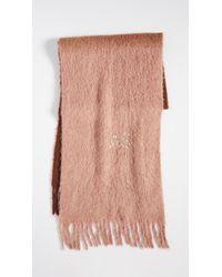 Acne Brown Kelow Dye Alpaca Scarf