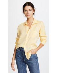 Frank & Eileen Yellow Barry Button Down Shirt