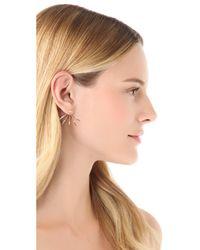 Pamela Love Metallic Five Spike Stud Earrings
