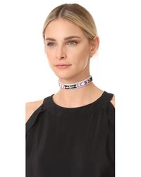 Rebecca Minkoff | Black Sparkler Seed Bead Choker Necklace | Lyst