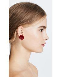 Deepa Gurnani - Red Deepa By Cyleex Stud Earrings - Lyst