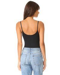 ATM Black Modal Rib Cami Bodysuit