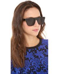 Retrosuperfuture Black Flat Top Large Sunglasses