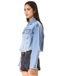 Ksubi Blue Daggerz Crop Jean Jacket