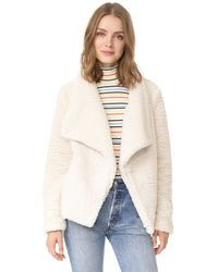 BB Dakota - White Jack By Adderly Sherpa Jacket - Lyst