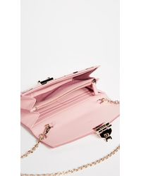MCM Pink Patricia Two Fold Wallet With Chain