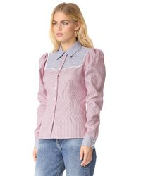 Caroline Constas - Multicolor Clementine Shirt - Lyst