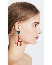 Kenneth Jay Lane Red Earrings