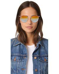 Ray-Ban Multicolor Phantos Round Semi Rimless Mirrored Sunglasses